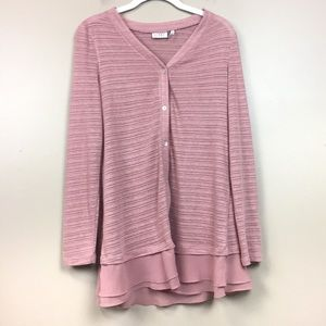 LOGO pink bottom down tunic